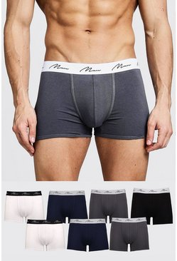 Multi 7 Pack MAN Signature Mixed Colour Trunks