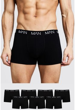 Black 7 Pack MAN Trunks
