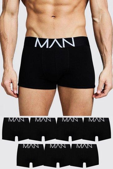 Black 7 Pack MAN Trunks
