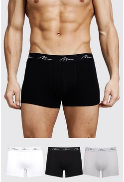Multi 3 Pack MAN Signature Mixed Colour Trunks