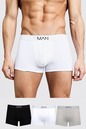 Multi 3 Pack Mixed Colour MAN Trunks