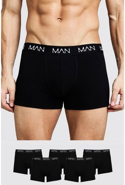 Lot de 5 boxers - MAN, Noir