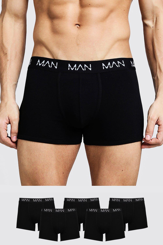 Men's Athleisure 5 Pack MAN Trunks