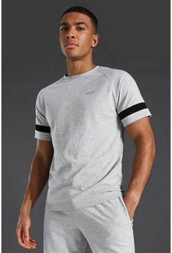 Man Active T-shirt, Grey marl grigio