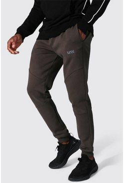 Khaki Man Active Pocket Detail Joggers