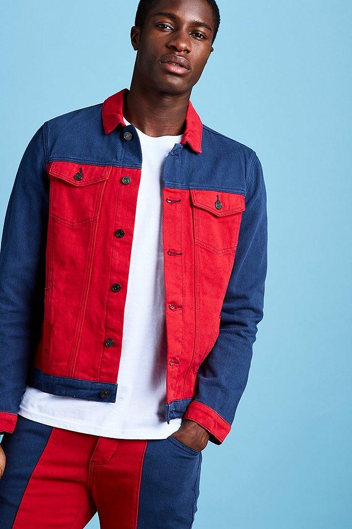 Denim Jacket Röd   na