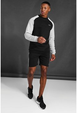 Sweat et short color block - MAN Active, Black noir