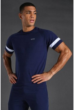 Man Active T-shirt, Navy blu oltremare