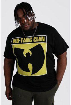 Black Plus Size Wu-tang Box License T-shirt