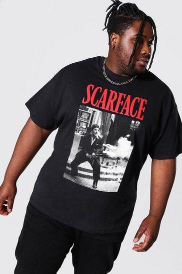 Black Plus Size Scarface License T-shirt