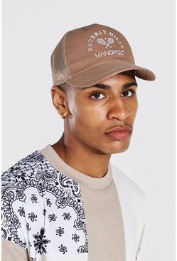 Brown Varsity Embroidered Trucker