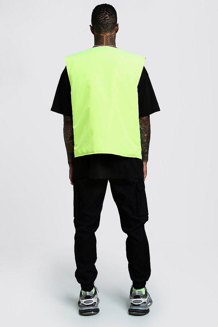 Sleeveless Neon Utility Vest | boohoo Canada