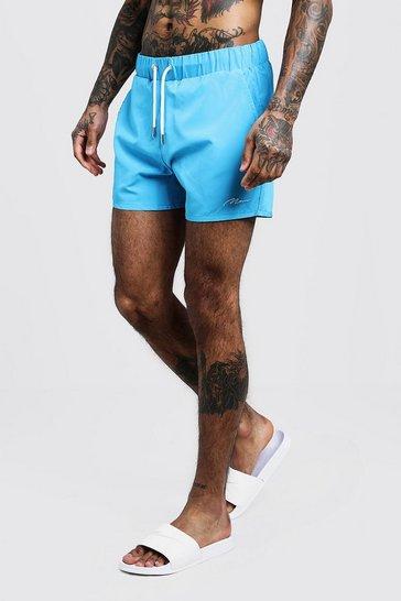 Blue MAN Signature Mid Length Swim Short