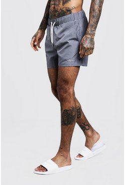 Grey MAN Signature Mid Length Swim Short