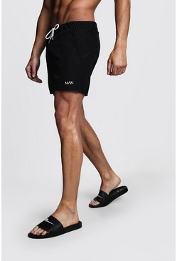 Black Original MAN Mid Length Swim Short