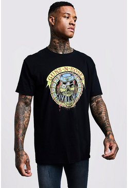 Black Guns N Roses Oversized Tour T-Shirt