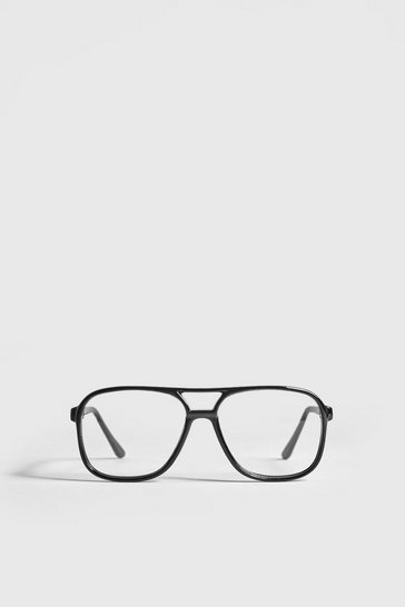 Black Clear Lens Geek Fashion Glasses