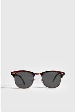 Brown brun Retro Sunglasses With Tortoise Frame