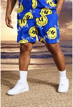 Cobalt Plus Mid Length Printed Swim Shorts