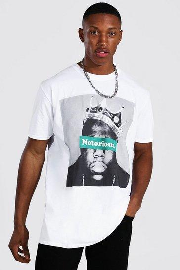 White Oversized Notorious Biggie License T-shirt