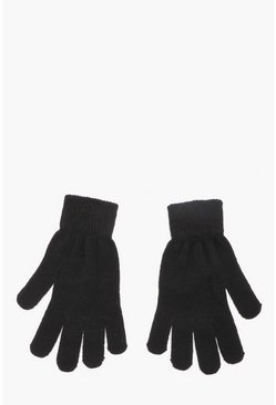 Black Mens Thermal Magic Gloves