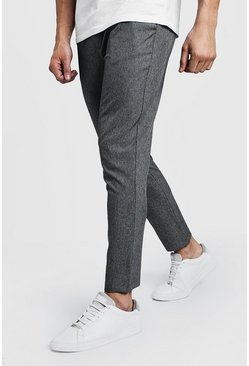 Grijs grey Effen Nette Skinny Fit Joggingbroek
