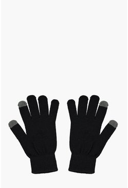 Black Thermal Touch Screen Gloves
