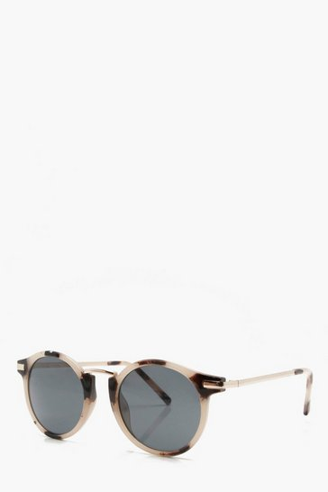 Brown Retro Frame Sunglasses