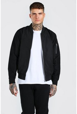 Black MA1 Bomber Jacket
