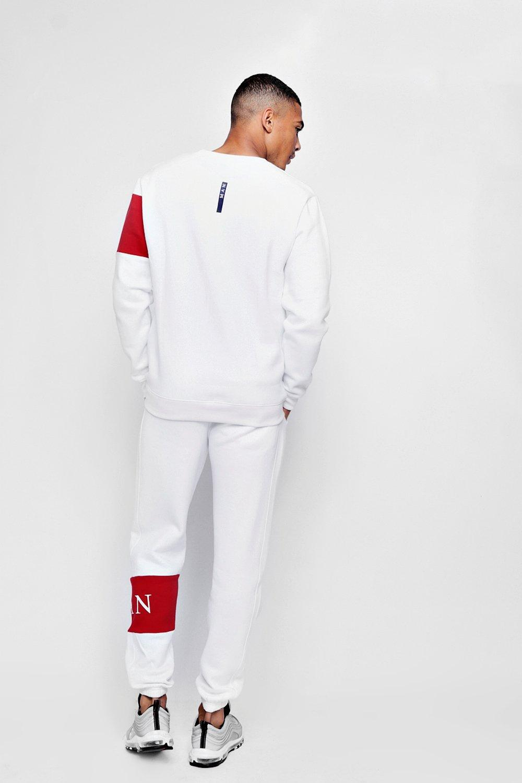 show original title Details about  /CMP tracksuit suit casual suit slim printed white sport