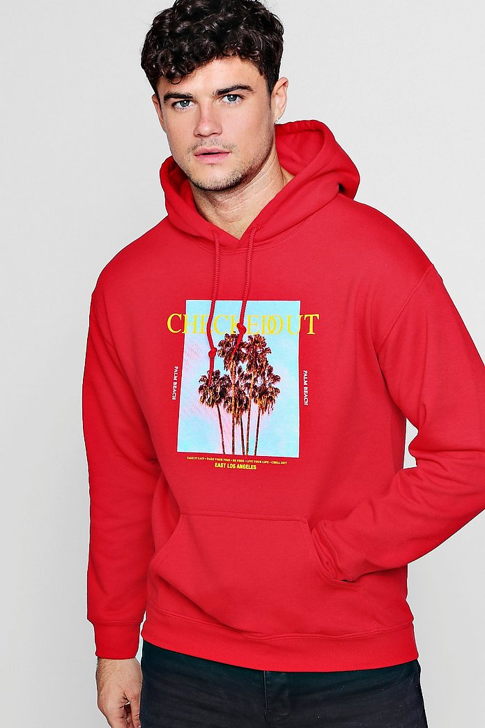 Checked Out Photo Print Hoodie | Boohoo UK