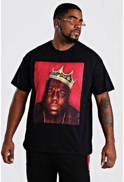 Black svart Plus Size Biggie Crown License T-Shirt