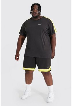 Chocolate Plus Man Tape Tee And Basketball Short Set