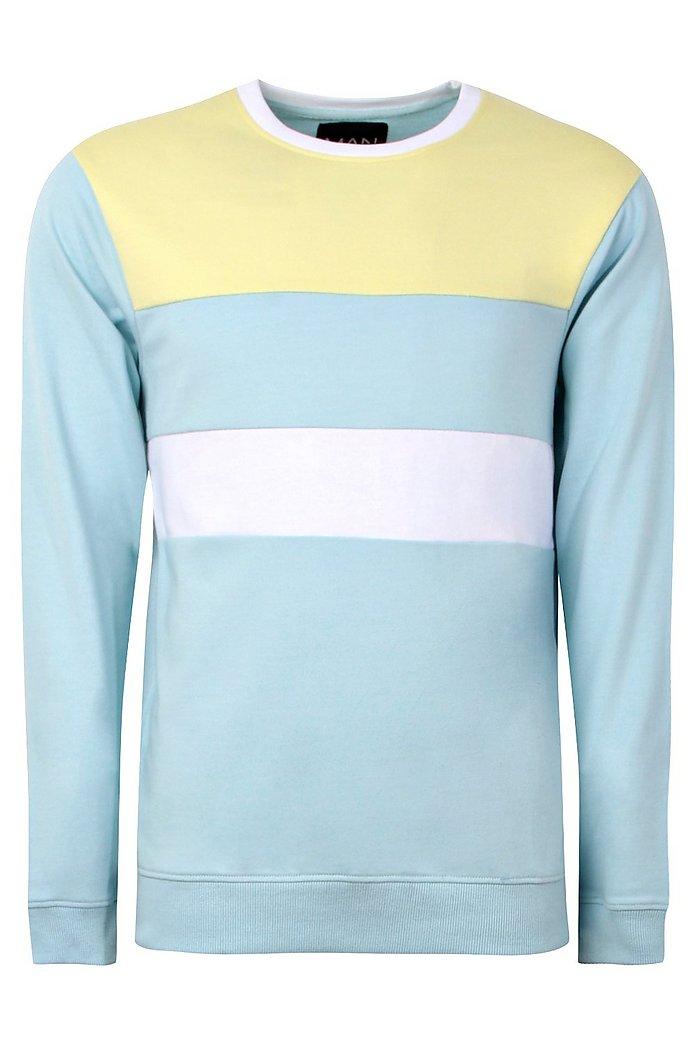 Pastel Colour Block Sweatshirt Boohoo Australia