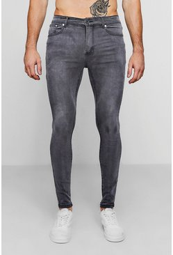 Charcoal grå Spray on skinny jeans i grå tvätt