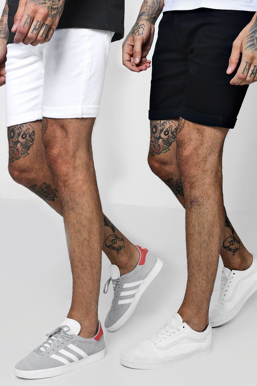 Men's Shorts 2 Pack Denim Shorts In Skinny Fit