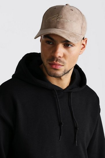 Stone 6 Panel Cap With MAN Embroidery