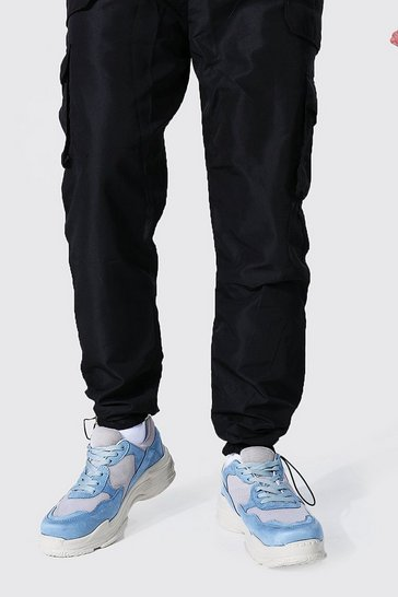 Blue Chunky Mix Colour Block Trainer