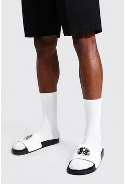 Black Man Varsity Sliders