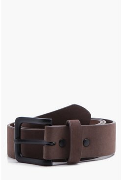Tan brun Classic Belt With Matte Finish