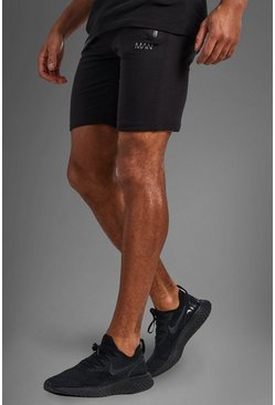 Zwart black Fitness Shorts