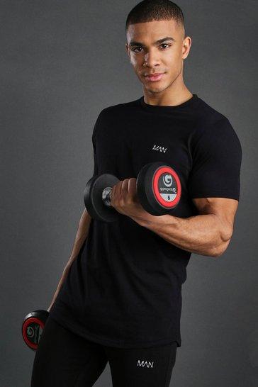 Black Short Sleeve Active Gym T-Shirt