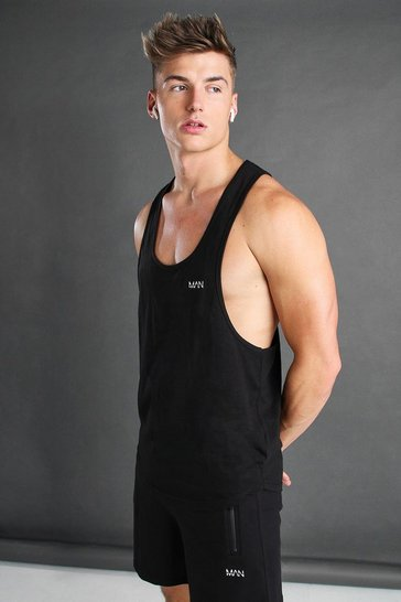 Black Active Gym Racer Vest