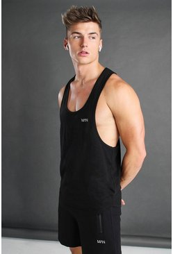 Black Active Gym Racer Tank Top