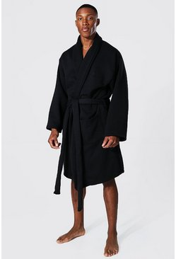 Black Man Signature Heavy Jersey Dressing Gown