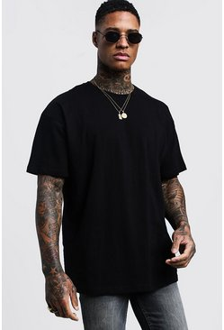 Black svart Oversized Crew Neck T-Shirt