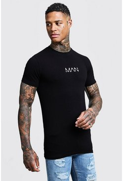Black svart Original MAN T-Shirt In Muscle Fit