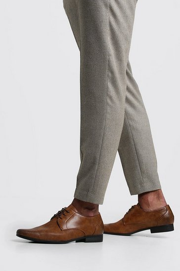 Tan brown Embossed Vamp Smart Shoe