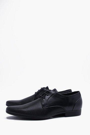 Black Embossed Vamp Smart Shoe