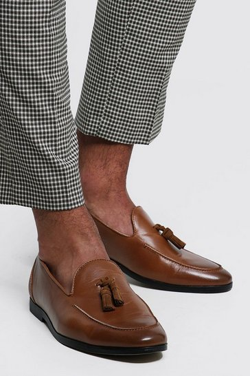 Tan brown PU Tassel Loafer